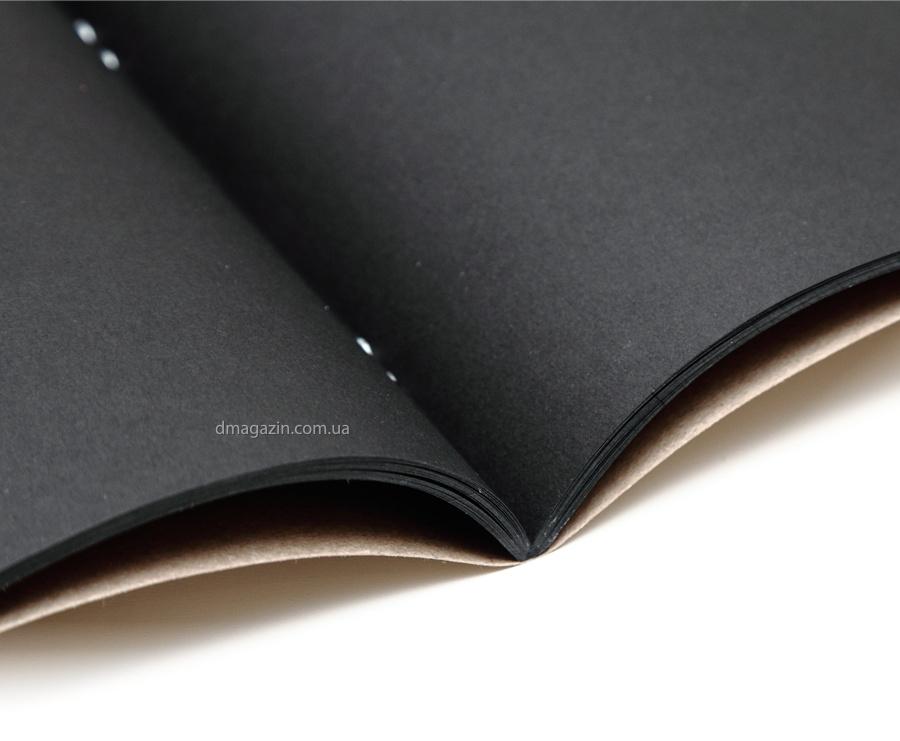 Тетрадь с черными листами