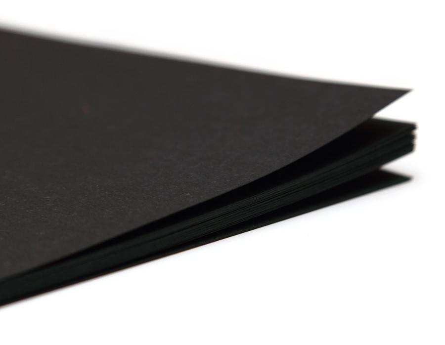 Блокнот с черными листами
