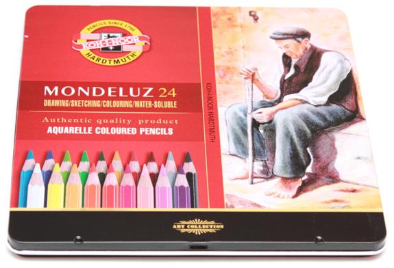 Акварельные карандаши KOH-I-NOOR Mondeluz (24 цвета)