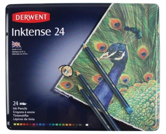 Derwent Inktense Китайская тушь (24 цвета)