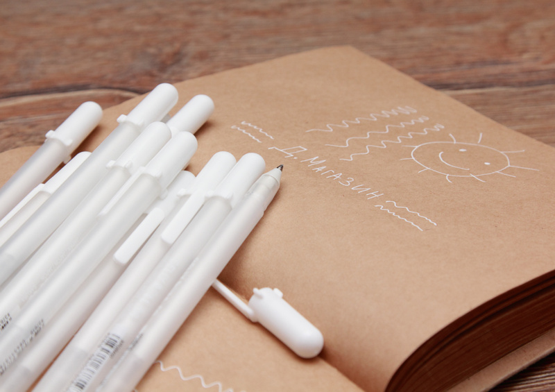 Гелевые ручки с белыми чернилами