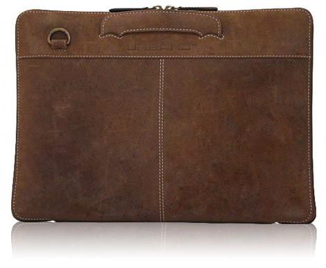 Кожаная сумка для ноутбука MacBook Pro винтажная (Compact Attache for.