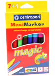 Фломастеры Centropen Maximarker Magic (7+1)