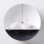 Настенные часы Haoshi Design Waterbird X CLOCK Swan v.1 (Лебеди)