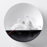 Настенные часы Haoshi Design Waterbird X CLOCK Swan v.2 (Лебеди)