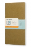 Тетрадь Moleskine Chapters Medium Slim Tawny Olive (карманная+, в точку)