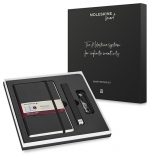 Набор Moleskine Smart Writing Ellipse (Smart Pen + Paper Tablet в линию, черный)