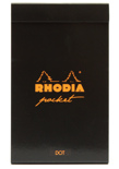 Блокнот Rhodia Pad Pocket в точку (A7+, черный)