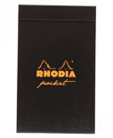 Блокнот Rhodia Pad Pocket в клетку (A7+, черный)