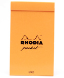 Блокнот Rhodia Pad Pocket в линию (A7+, оранжевый)