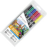 Набор брашпенов Tombow ABT Dual Brush Pen Primary colour set (6 цветов)