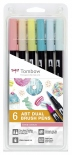 Набор брашпенов Tombow ABT Dual Candy colours set (6 цветов)